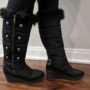 Juicy Couture Quilted Wedge Boots